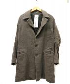 ANREALAGE(アンリアレイジ)の古着「チェスターコート」|ブラウン