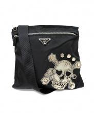 PRADA(プラダ)の古着「スカルナイロンショルダーバッグ」|ブラック