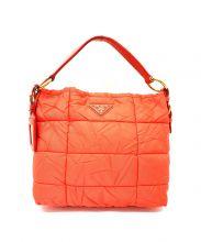 PRADA(プラダ)の古着「テスートボンバーハンドバッグ」|オレンジ