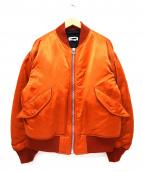 H BEAUTY&YOUTH(エイチ ビューティアンドユース)の古着「NYLON PADDED MA-1」|オレンジ