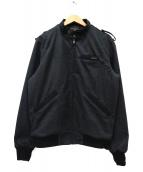 Hysteric Glamour(ヒステリックグラマ)の古着「TRANS LOVE ACADEMY刺繍 ZIPアップリブジ」|ブラック