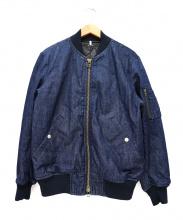 Johnbull(ジョンブル)の古着「デニムMA-1ジャケット」
