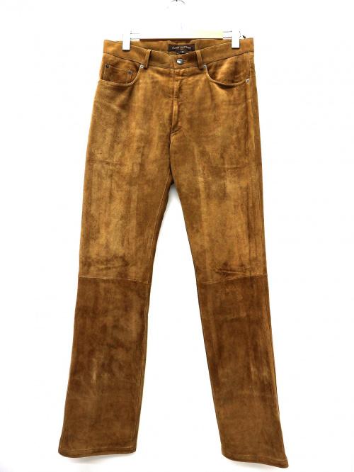 LOUIS VUITTON(ルイヴィトン)LOUIS VUITTON (ルイヴィトン) ゴートスキンレザーパンツ ブラウン サイズ:48 山羊革 フランス製の古着・服飾アイテム