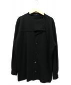 Y's(ワイズ)の古着「長袖デザインウール混ブラウス」