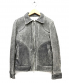 Y's(ワイズ)の古着「ヴィンテージ加工レザージャケット」|グレー