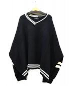 CRAY TOKYO(クレイ トウキョウ)の古着「オーバーサイズVネックニット」 ブラック