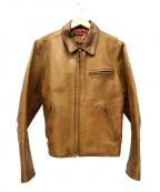 FREEDOM(フリーダム)の古着「レザージャケット」|ブラウン