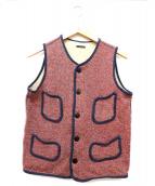 KAPITAL(キャピタル)の古着「ビーチクロスベスト」|レッド×ネイビー