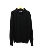 CELINE(セリーヌ)の古着「襟付プルオーバーニット」|ブラック