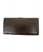 CYPRIS(キプリス)の古着「マットクロコ長財布」|ブラウン
