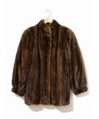 SAGA MINK(サガミンク)の古着「ミンクファー毛皮ハーフコート」 ブラウン