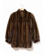 SAGA MINK(サガミンク)の古着「ミンクファー毛皮ハーフコート」|ブラウン