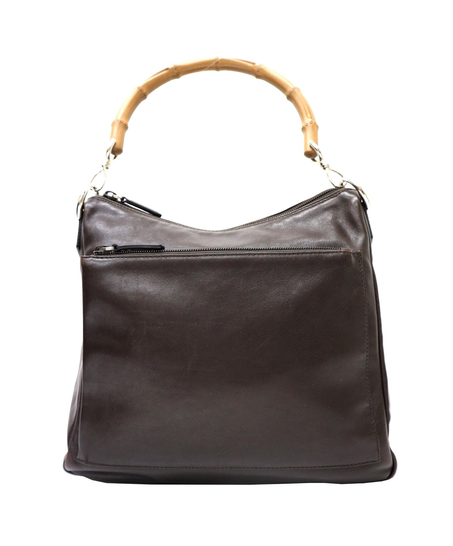 cheap for discount 2200d 1dd2b 中古・古着通販】GUCCI (グッチ) バンブーハンドバッグ ブラウン ...