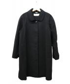 BALMAIN(バルマン)の古着「カシミヤコート」|ブラック
