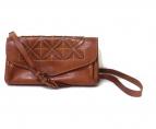 genten(ゲンテン)の古着「お財布ウォレットショルダーバッグ」|ブラウン