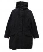 LACOSTE()の古着「フェイクファーフードコート」|ブラック