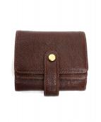 土屋鞄(ツチヤカバン)の古着「3つ折り財布」|ブラウン