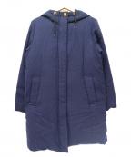 LA MARINE FRANCAISE(マリンフランセーズ)の古着「ウールボディフーデッドダウンコート」|ネイビー