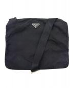PRADA(プラダ)の古着「ナイロンショルダーバッグ」|ブラック