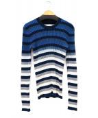 Maison Margiela 1(メゾン・マルジェラ)の古着「Wideneck Space Dye Sweater」|ネイビー