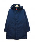 ROSSO()の古着「小松精練ステンカラーダウンコート」|ネイビー
