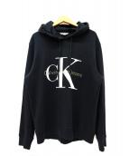 Calvin Klein Jeans(カルバンクラインジーンズ)の古着「プルオーバーパーカー」 ブラック