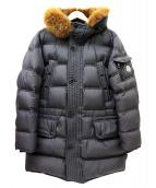 MONCLER(モンクレール)の古着「ファー付ダウンコート」|ブラック