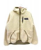WILD THINGS(ワイルドシングス)の古着「ボアフリースフードジャケット」|ベージュ