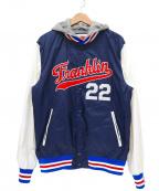 Franklin & Marshall(フランクリンマーシャル)の古着「フード付スタジャン」|ネイビー