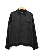 WACKO MARIA(ワコマリア)の古着「オープンカラーシャツ」|ブラック