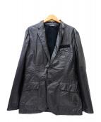 ARMANI EXCHANGE(アルマーニエクスチェンジ)の古着「加工テーラードジャケット」|ブラック