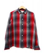WACKO MARIA(ワコマリア)の古着「オープンカラーシャツ」|レッド×グレー