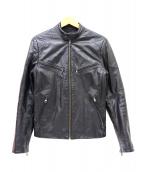 ARMANI EXCHANGE(アルマーニエクスチェンジ)の古着「リバーシブルレザージャケット」 ブラック