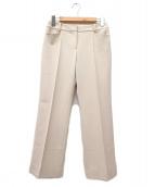 LANVIN COLLECTION(ランバンラコレクション)の古着「ポリジャージーセンタープレススラックス」|ホワイト