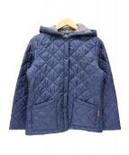 LAVENHAM(ラヴェンハム)の古着「フード付キルティングジャケット」|ネイビー