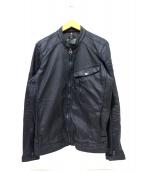 G-STAR RAW(ジースターロゥ)の古着「コーティングジップジャケット」|ブラック