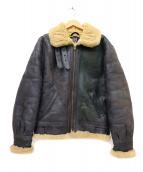 AVIREX(アヴィレックス)の古着「B-3ムートンジャケット」|ブラック