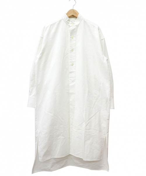 HYKE(ハイク)HYKE (ハイク) バンドカラーロングシャツ ホワイト サイズ:1 完売品 日本製の古着・服飾アイテム