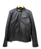 LIUGOO LEATHERS(リューグーレザーズ)の古着「シングルシープスキンレザージャケット」|ブラック
