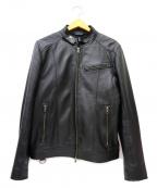 LIUGOO LEATHERS(リューグーレザーズ)の古着「シングルシープスキンレザージャケット」 ブラック
