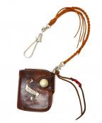 RED MOON(レッドムーン)の古着「2つ折りレザー財布」|ブラウン