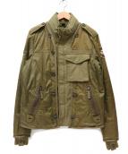 NAPAPIJRI(ナパピリ)の古着「切替デザインミリタリージャケット」|カーキ