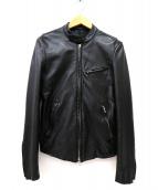 LITHIUM HOMME(リチウム オム)の古着「レザージャケット」|ブラック
