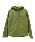 ()の古着「リクレイムドウールスナップジャケット」 オリーブ