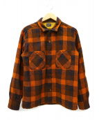 TENDERLOIN(テンダーロイン)の古着「チェックシャツ」|ブラウン