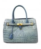 RODANIA(ロダニア)の古着「クロコハンドバッグ」|ブルー