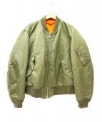 6(ROKU)BEAUTY&YOUTH(ロク ビューティアンドユース)の古着「MA-1ジャケット」 カーキ