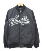 Franklin & Marshall(フランクリンマーシャル)の古着「スナップボタンブルゾン / スタジャン」|ブラック