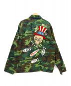 MISTER FREEDAM×TAYLOR東洋(ミスターフリーダム×テイラートウヨウ)の古着「リバーシブルベトジャン」 インディゴ×カーキ