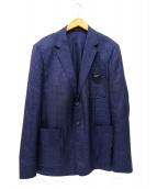 VERSACE(ヴェルサーチ)の古着「3Bジャケット」|ネイビー